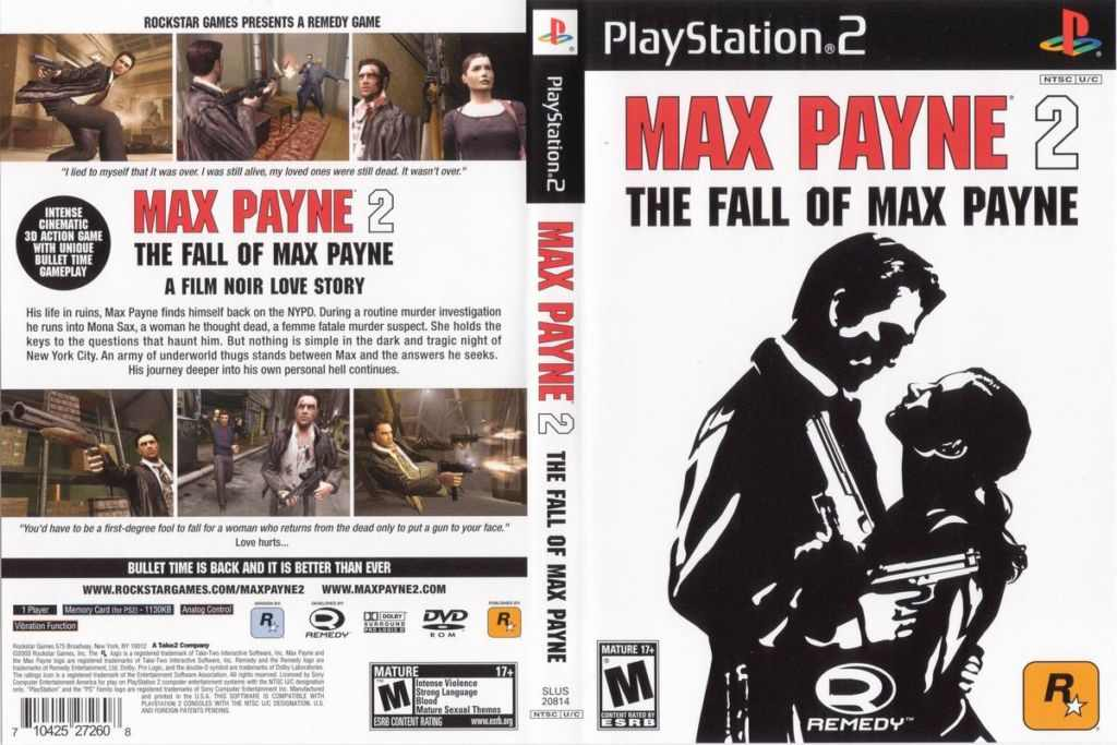 Max Payne 2 The Fall Of Max Payne Eu Ps2 Loveroms Iso Best